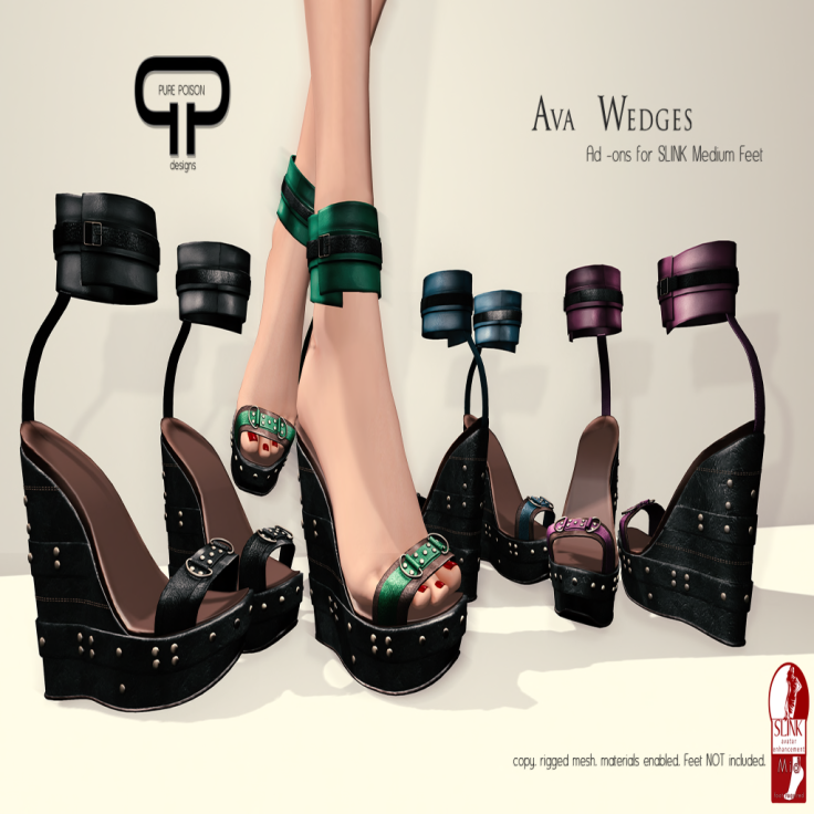 Pure Poison - Ava Wedges - Ad -ons for Slink Medium Feet