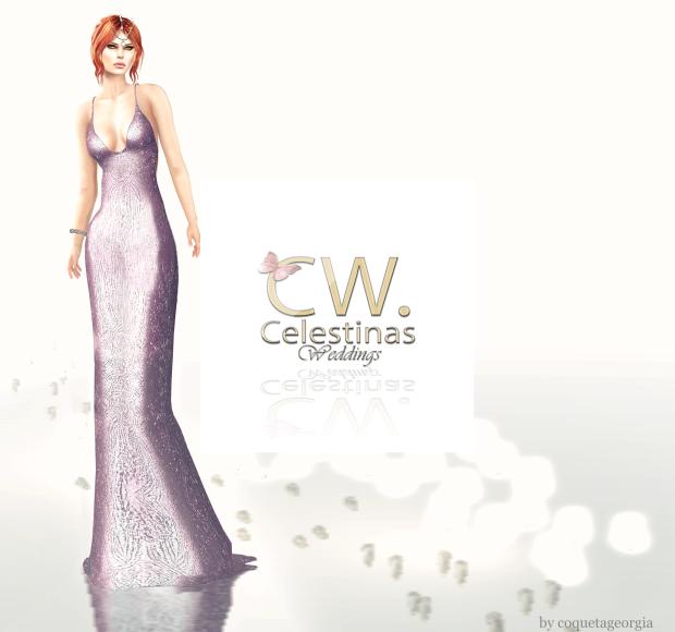 Celestinas dress w logo