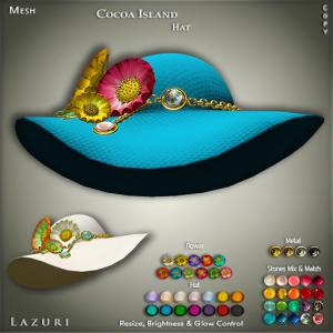 Lazuri Cocoa Island Hat PIC