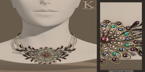 (Kunglers Extra) Anais necklace - grape